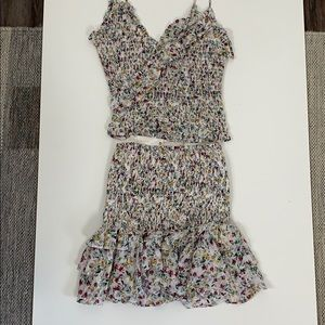 Floral set (top and mini skirt)
